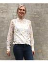 Rue de Femme Dot skjorte i hvid