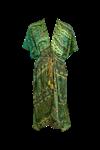 Black Color Luna kimono i grøn