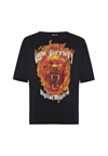 Lala Berlin Rafi Fire Lion T-shirt i sort