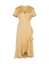 Neo Noir Magga Vintage Dot kjole i gul