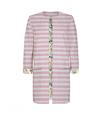 Pom Amsterdam Stripes Pink jakke i stribet