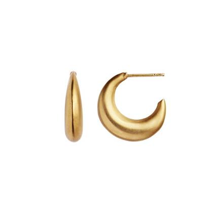 Stine A Big Crossaint Creol ørering i guld