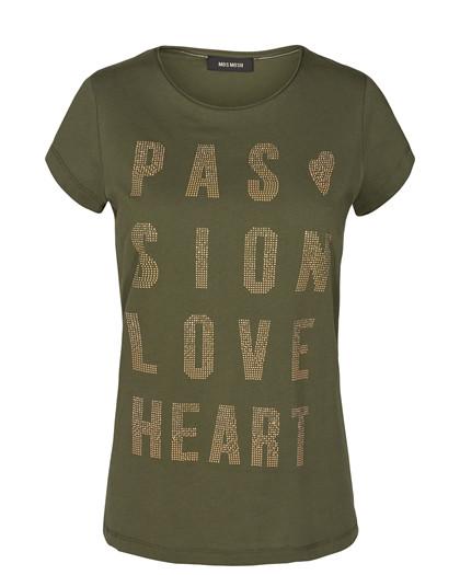 Mos Mosh Crave Rivet T-shirt i army grøn
