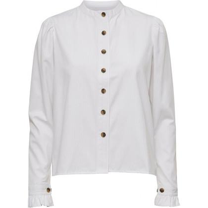 NORR Olive skjorte i hvid