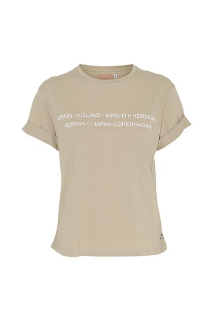Birgitte Herskind Cee T-Shirt i Camel