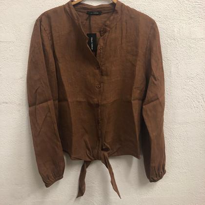 Black Colour Lea Ls hør skjorte i brun