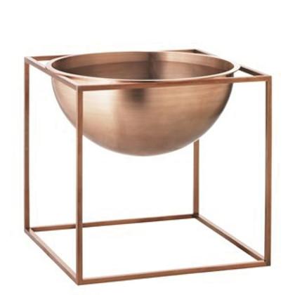 By Lassen stor Kubus bowl i kobber