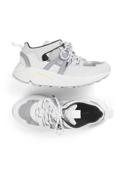 Ganni S0758 Tech Brooklyn Low sneakers i hvid