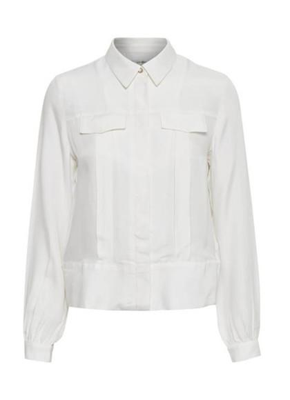 Gestuz Genta Crop skjorte i hvid