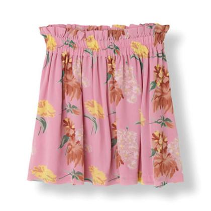 Ganni Marceau Georgette nederdel i Pink