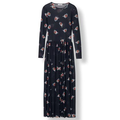 Ganni Tilden maxi kjole i sort
