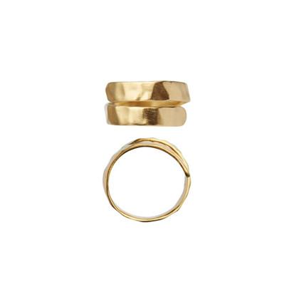 Stine A Hammered Open Ring i forgyldt sølv