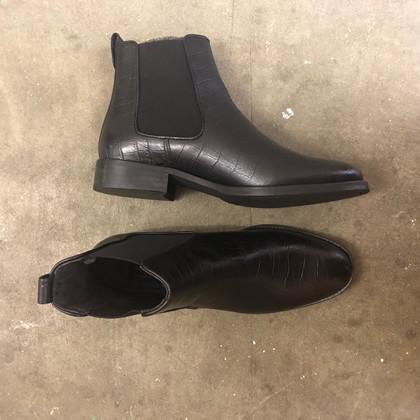 Billi Bi Black croco Støvle i sort