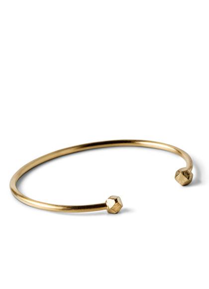 Jane Kønig Simple Bead armbånd i guldbelagt