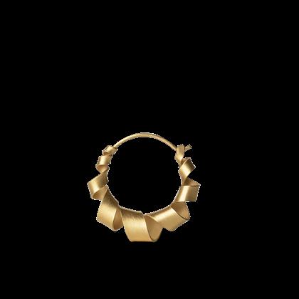 Jane Kønig small Curly hoop i guld