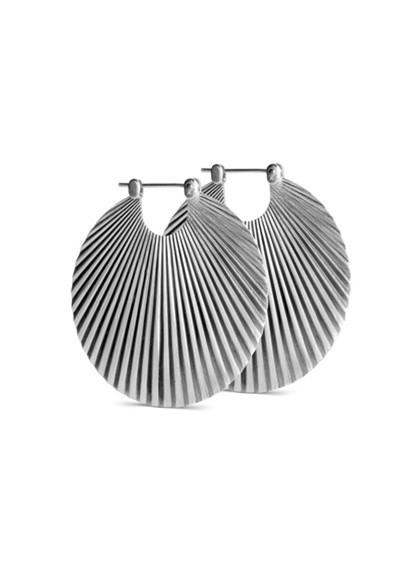 Jane Kønig stor Shell ørering i sølv