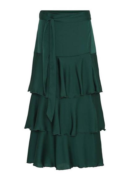 Karmamia Celine nederdel i mørk grøn