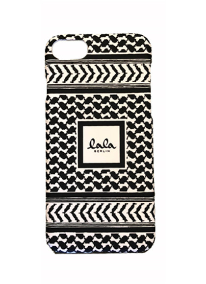Lala Berlin Kufiya Scribbled iPhone cover i hvid