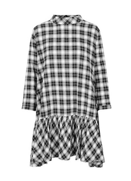 Mads Nørgaard Dreamella ternet kjole i sort