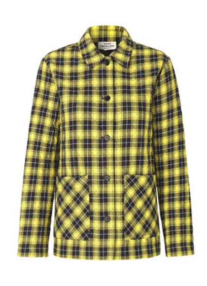 Mads Nørgaard Seersucker Check Jall jakke i gul