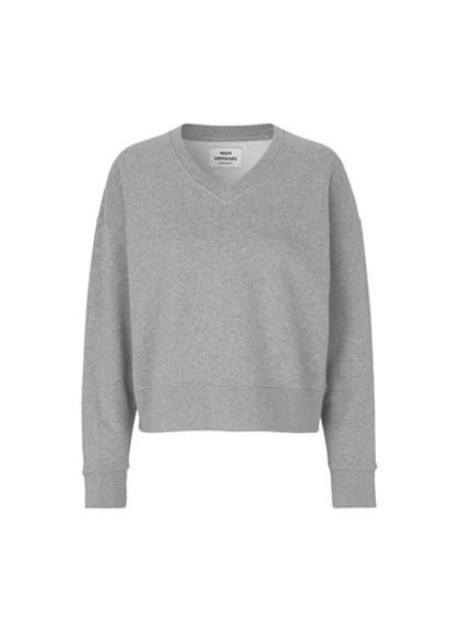 Mads Nørgaard Tilvina V Logo sweatshirt i grå