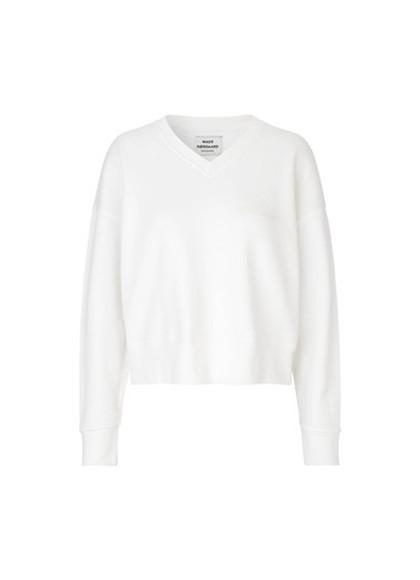Mads Nørgaard Tilvina V Logo sweatshirt i hvid
