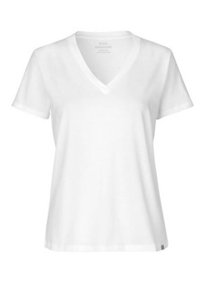 Mads Nørgaard Trimmy V T-shirt i hvid