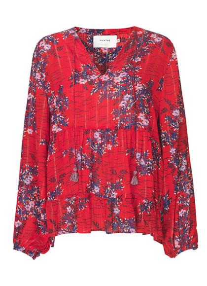Munthe Bloom bluse i rød