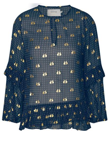Munthe Vanish bluse i navy