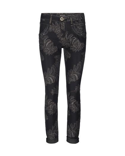 Mos Mosh Naomi shine printed bukser i sort