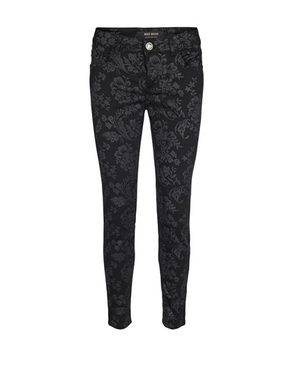 Mos Mosh Victoria Glam Flower bukser i sort