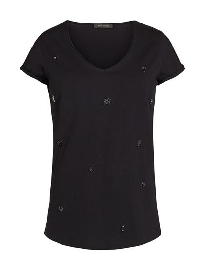 Mos Mosh Margeret t-shirt  i sort