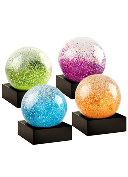 Niji Snow globe Mini Jewels i grøn