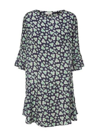 NORR Beth kjole i grøn & navy