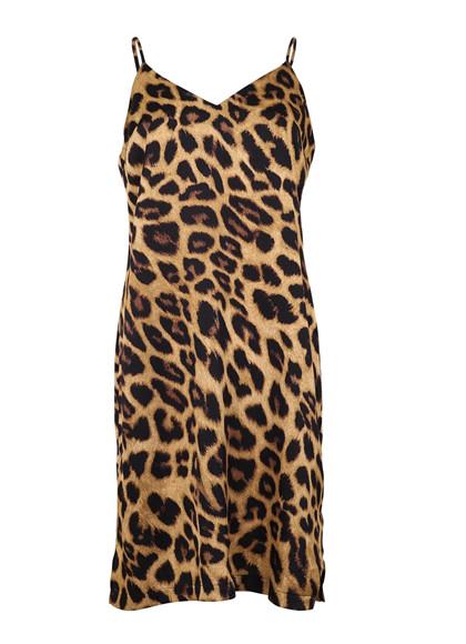 Neo Noir Justine slip dress kjole i leo print