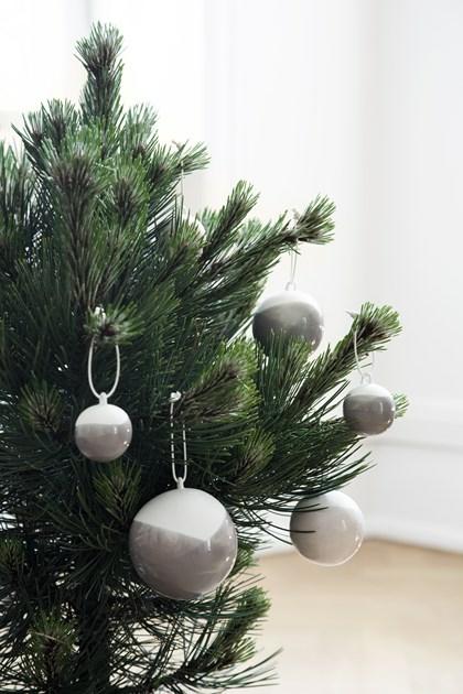 Kähhler Nobili dekorations kugler i grå, 3-pak