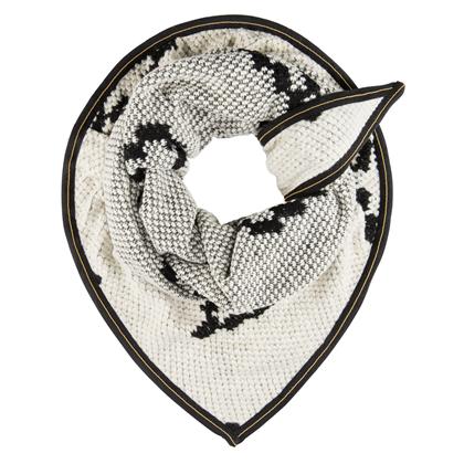 Pom Amsterdam Soft Diamond Winterwhite sjal/tørklæde