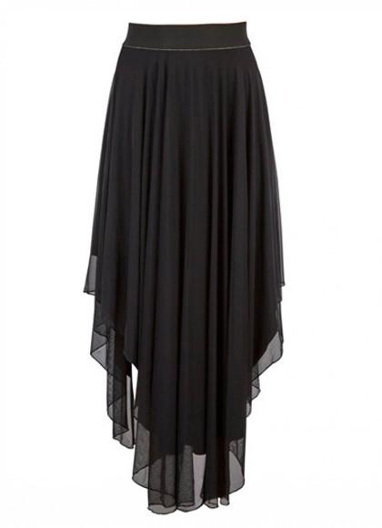 Rue De Femme Mesh skirt nederdel i sort