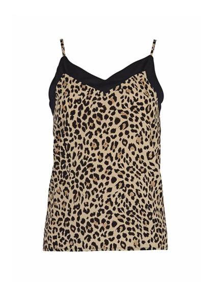 Rue de Femme New Karen top i leopard