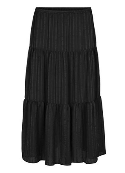 Second Female Honey Midi skirt i sort