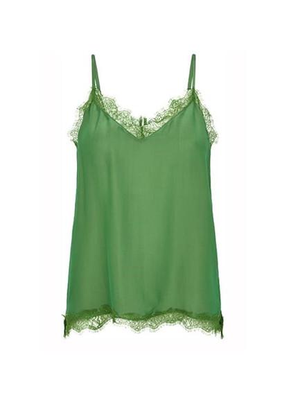 Second Female Macy top i grøn