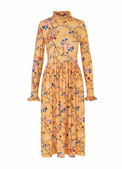 Stine Goya Clarabelle kjole i gul
