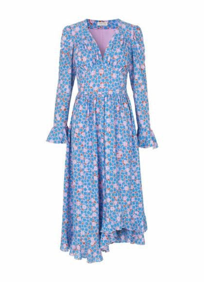 Stine Goya Freesia kjole i blå