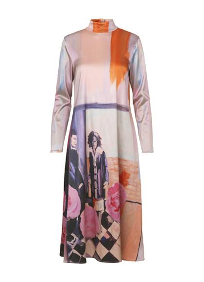 Stine Goya Millie kjole i mønstret