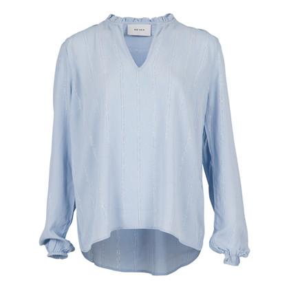 Neo Noir Anisette Lurex bluse i blå