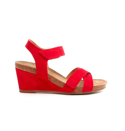 Ca'shott sandal i rød