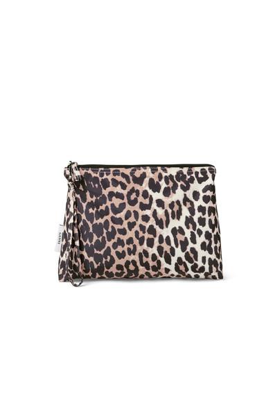 Ganni Fairmont Accessories toilettaske i leopard