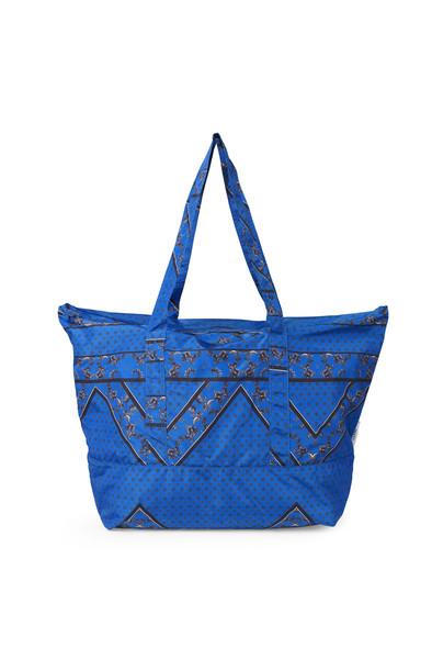 Ganni Farimont Accessories stor taske i blå