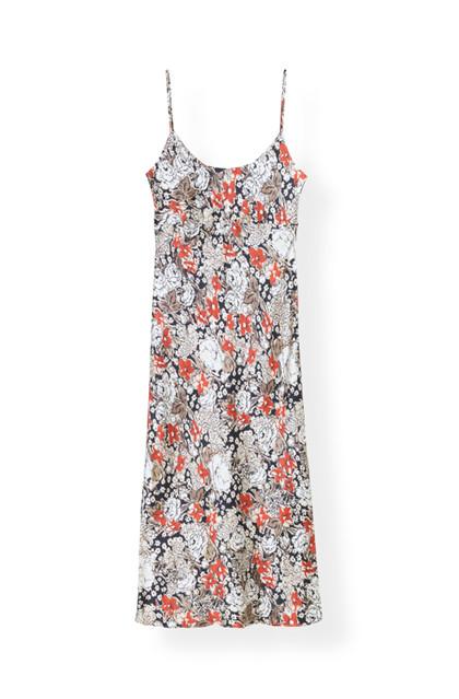 Ganni F3254 kjole i mønstret