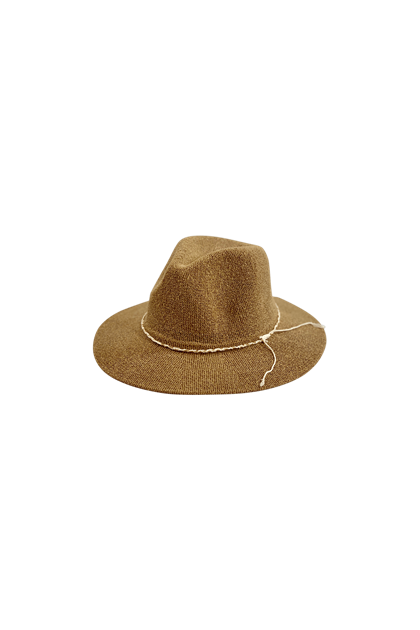Black Color Ana Summer hat i camel